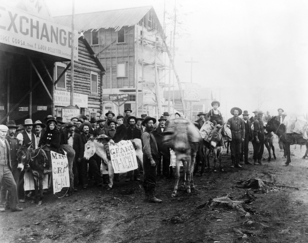 Dawson City during the 'Gold Rush', c. late 1830s.